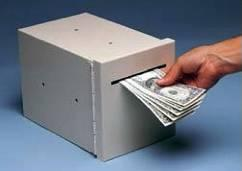 drop boxes for cash and documents for use in schools, libraries and other institutions