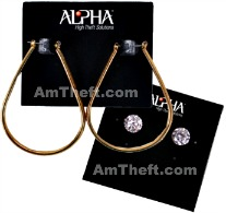 Alpha Jewel Lok tags help protect earrings from theft