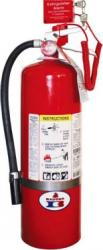 Alarm on fire extinguisher