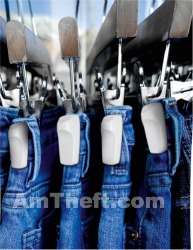 Hard tags used to help protect jeans