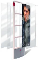 Checkpoint advertising panels allow you to put graphics under a protective cover.