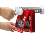 Helix Wall Dispensing System allows customer easy access to merchandise