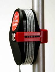 Cable Alarm Lock mounted on pole