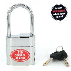 Lock Alarm Padlock for indoor or outdoor security