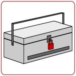 Lock Alarm Padlock on tool box