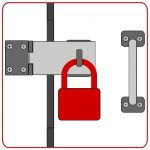Lock Alarm Padlock on clasp