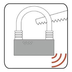 U Shackle Lock Alarm resists tampering
