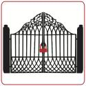 Use Lock Alarm U Shackle on gates