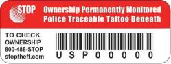 STOP Security Tags for small products