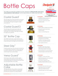 link to Alpha Bottle Caps intro sheet American Theft Prevention Products