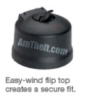 The easy wind flip top on the Alpha Rx cap creates a secure fit.